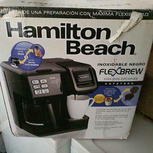 New hamilton beach flexbrew black stainless 2 way